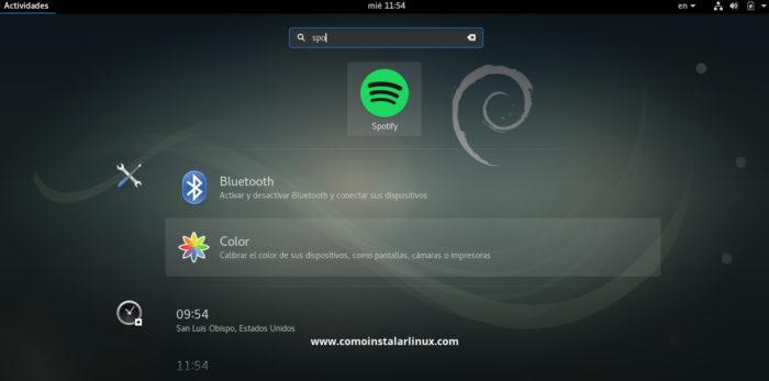 Spotify install Debian 9