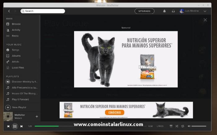 spotify linux update actualizacion novedades de spotify para linux 02 publicidad