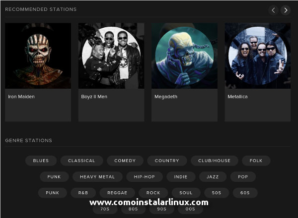spotify linux update actualizacion novedades de spotify para linux 04 estaciones de radio