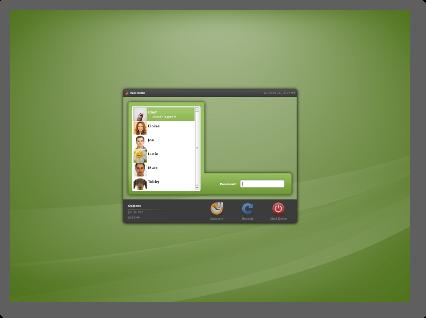 Linux Mint 14 MDM con temas de GDM 2