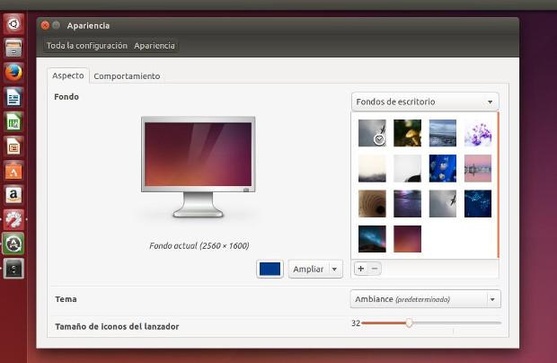 configurar tamaño de iconos del lanzador de ubuntu
