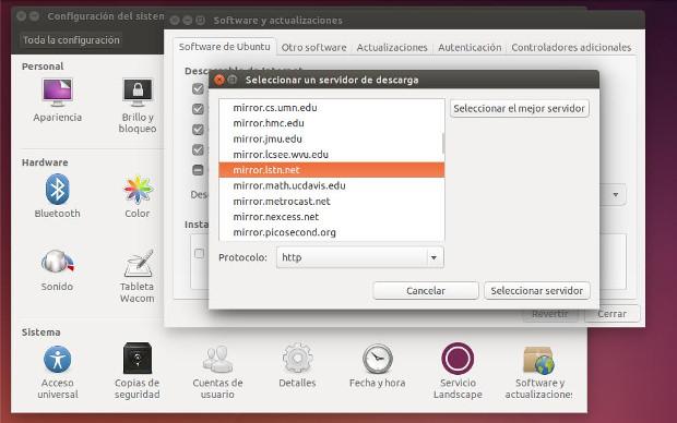 configurar el repositorio mas rápido en ubuntu