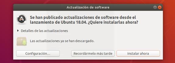 ubuntu 18.04 update dialog que hacer despues de instalar ubuntu 18.04