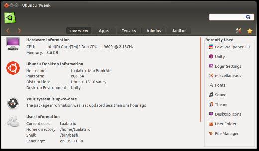 como instalar ubuntu tweak en ubuntu