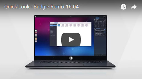 un vistaso video de budgie remix linux distro